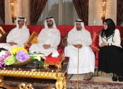 HH Sheikh Mohammed Bin Rashid Al Maktoum and Hazza Bin Zayed Al Nahyan